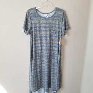 Lularoe Carly high-low dress in grey Size XL $59